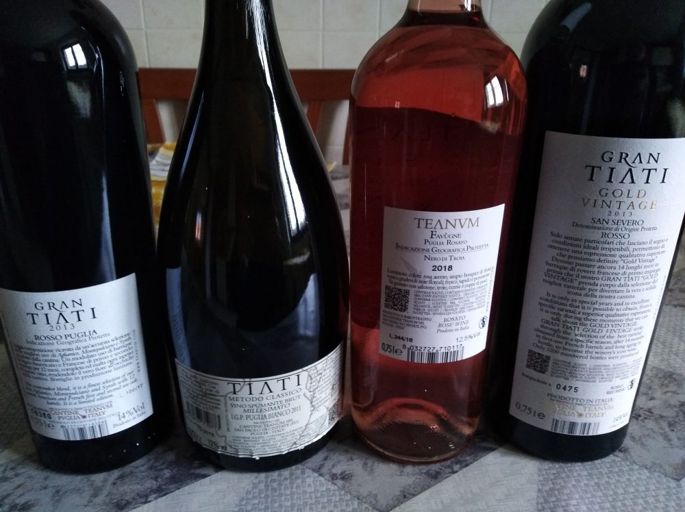 Controetichette Vini Teanum