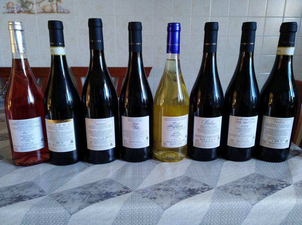 Controetichette vini Paolo Cali'