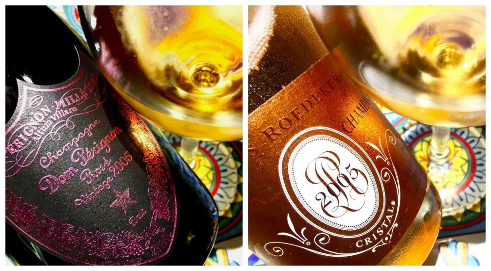 Cristal Rose' 2005 & Dom Perignon 2005