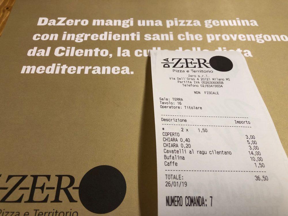 Da Zero, il mio conto