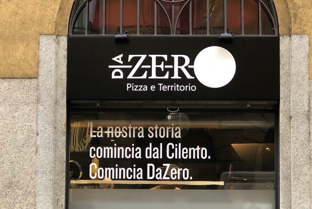 Da Zero, l'insegna su Via dell'Orso