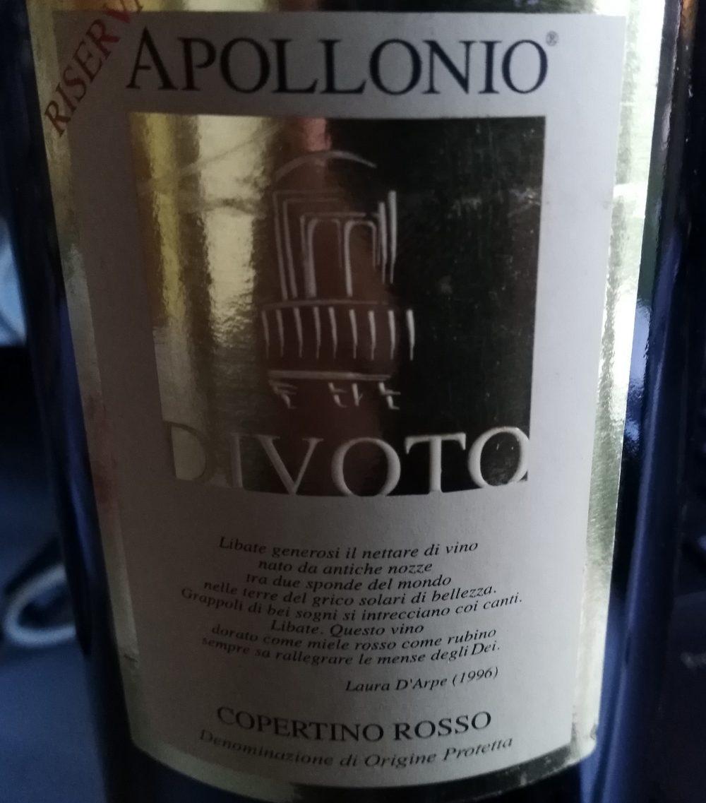 Divoto Copertino Rosso Riserva Dop 2004 Apollonio