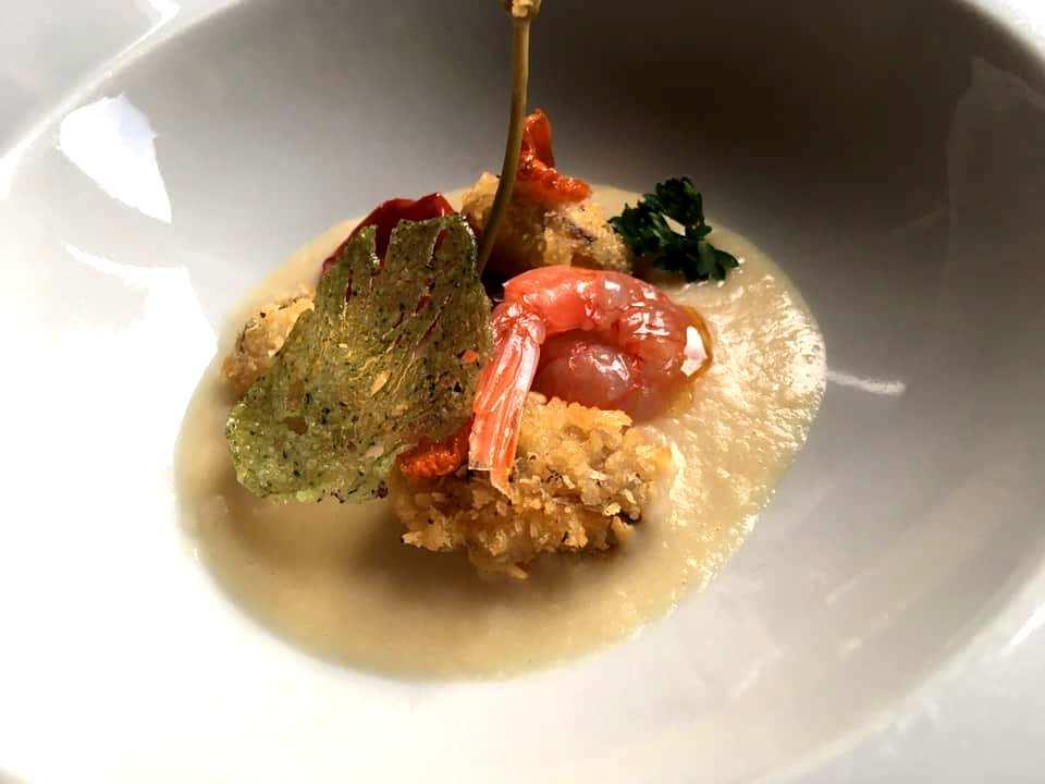La Contrada - Passatina di fagioli, cozza gratinata, Gambero Rosso & Cappero