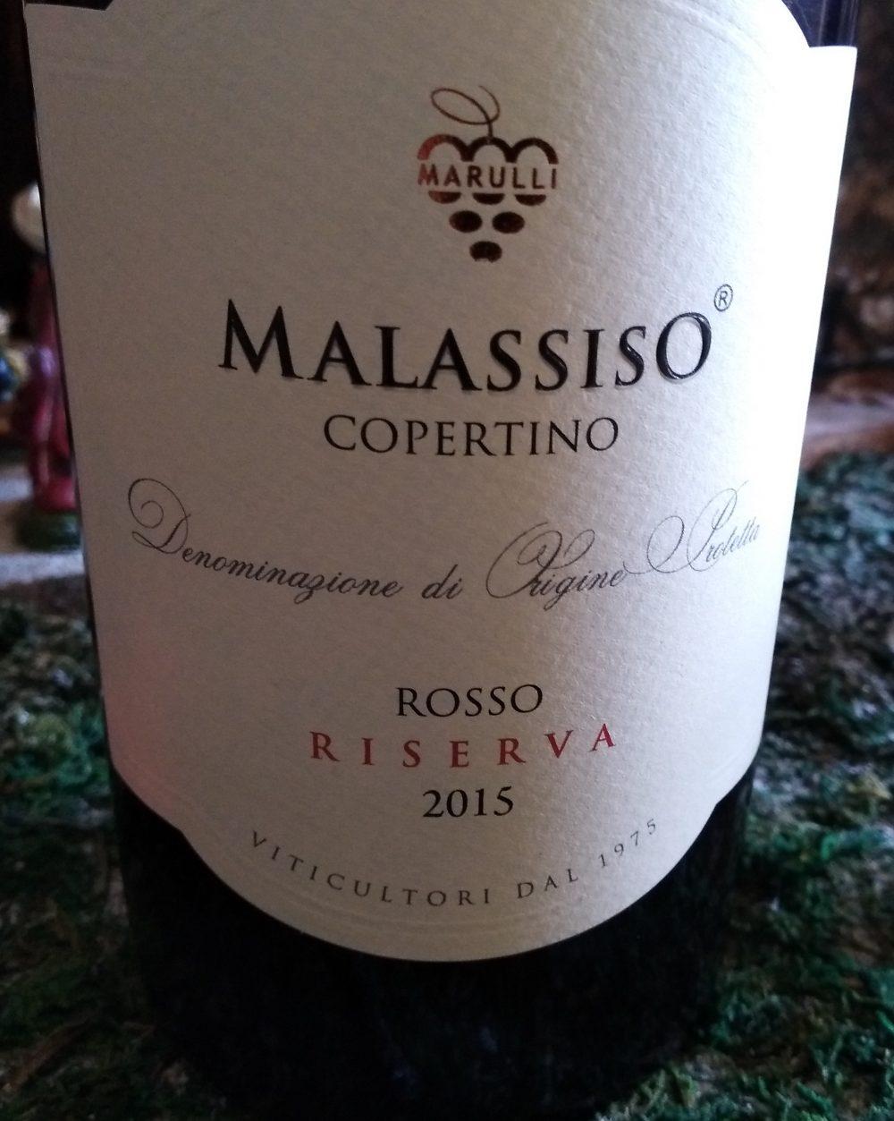 Malassiso Copertino Rosso Riserva Dop 2015 Marulli