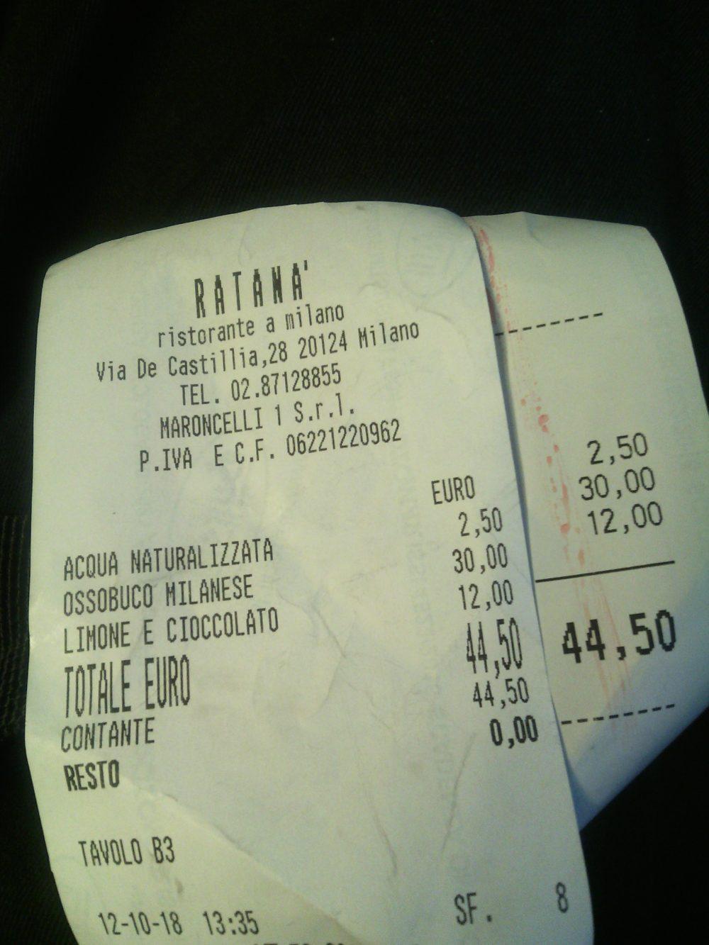Ratana', conto