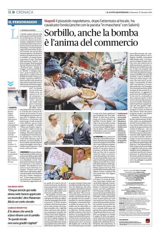 L'articolo di Selvaggia Lucarelli a tutta pagina sul Fatto Quotidiano