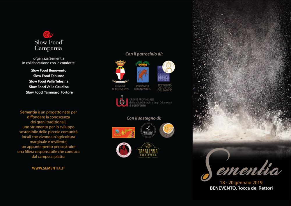 Terza edizione di Sementia - programma