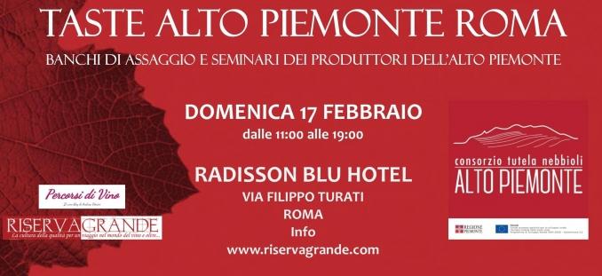 Taste Alto Piemonte 17 febbraio 2019, Roma