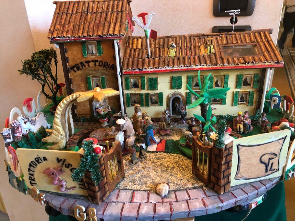 Trattoria Visconti, versione natalizia e bonsai