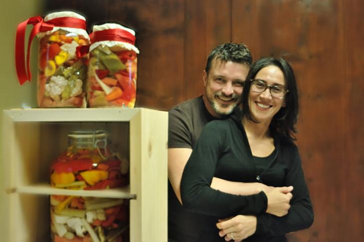 Morgan Pasqual e la moglie
