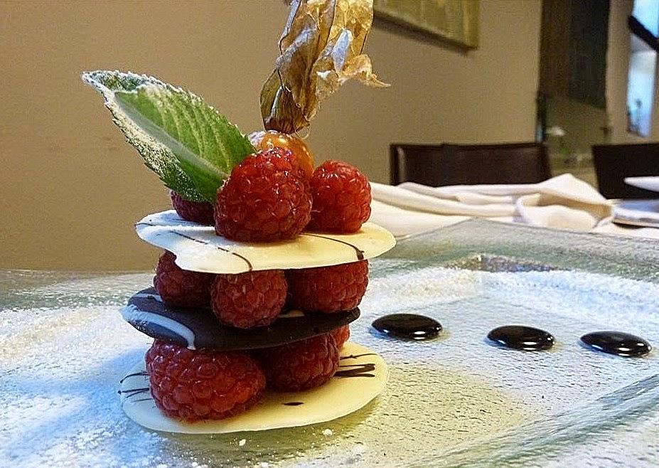 Opera Restaurant, Sorisole, torretta di lamponi freschi ai due cioccolati