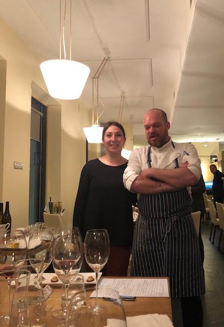 Noemi Apollonio e lo chef Andrea Viola del San Giorgio