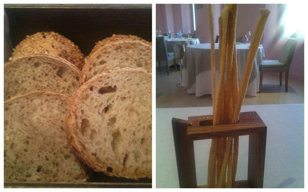 Piazza Duomo, pane integrale, pane bianco, pagnottine alle nocciole - grissini stirati