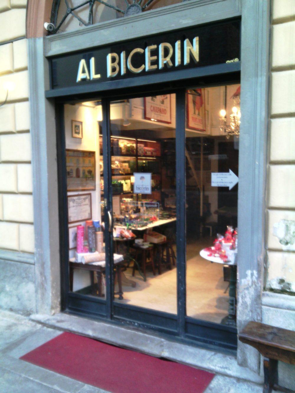 Al Bicerin, l'entrata