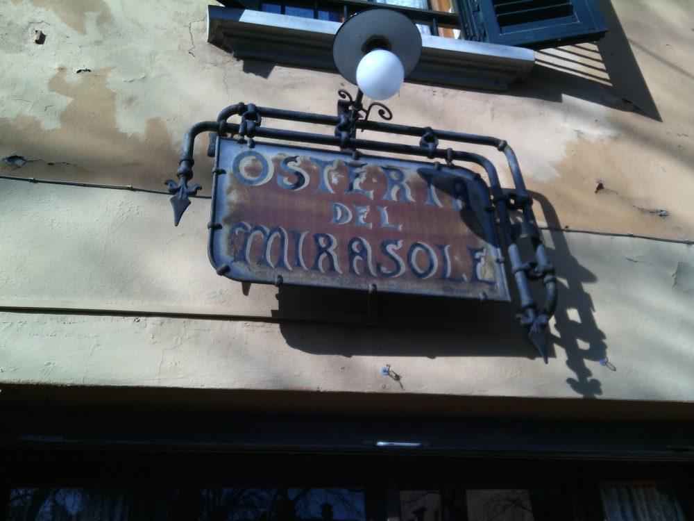 Antica osteria del Mirasole, L'antica insegna