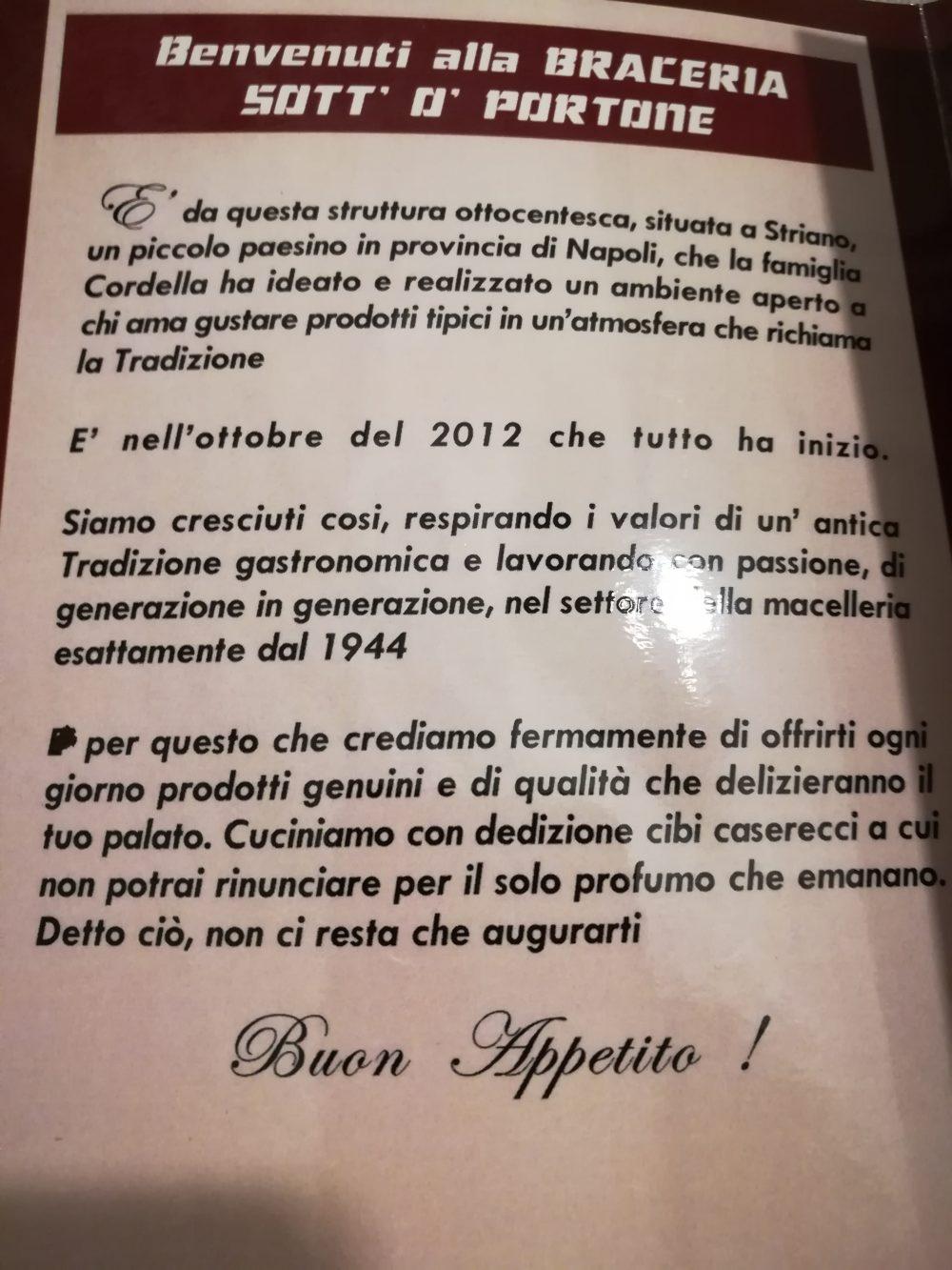 Braceria Sott'o' Portone - La Filosofia del locale
