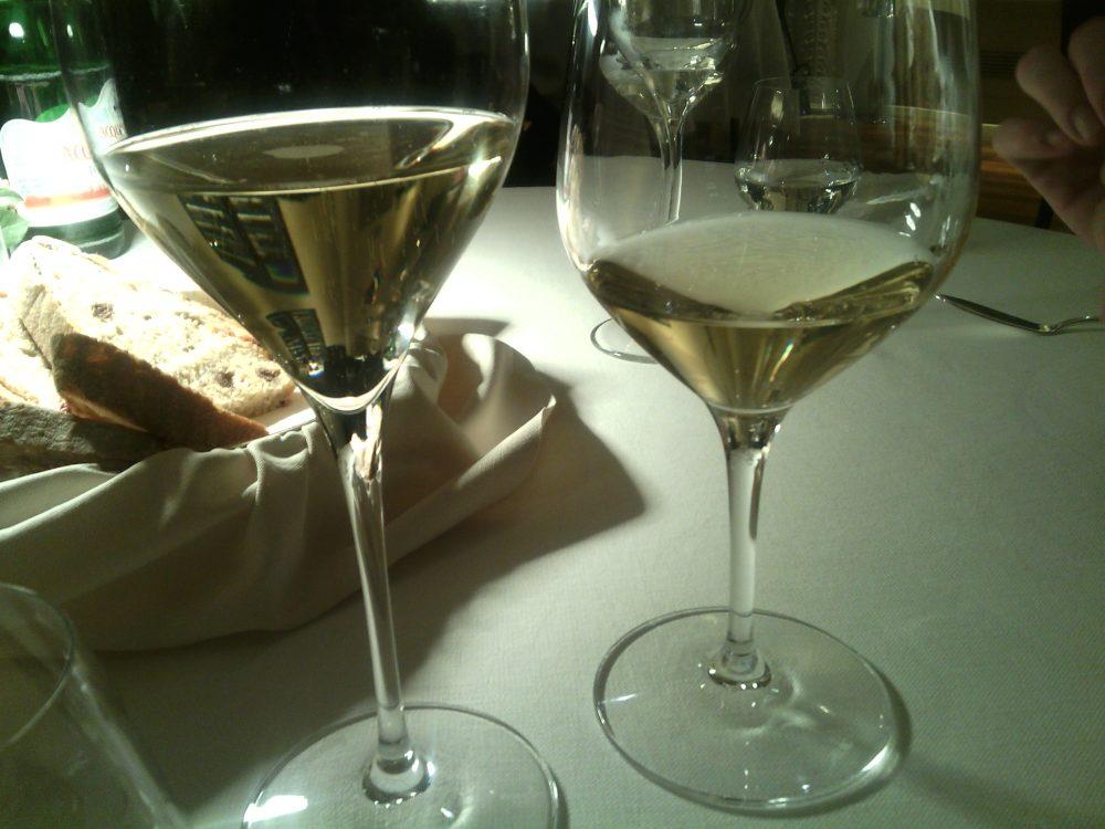 Cena a Teatro, i vini della serata - Spumante riserva Moretti 2011 Franciacorta, Bellavista Chardonnay Uccellanda 2013