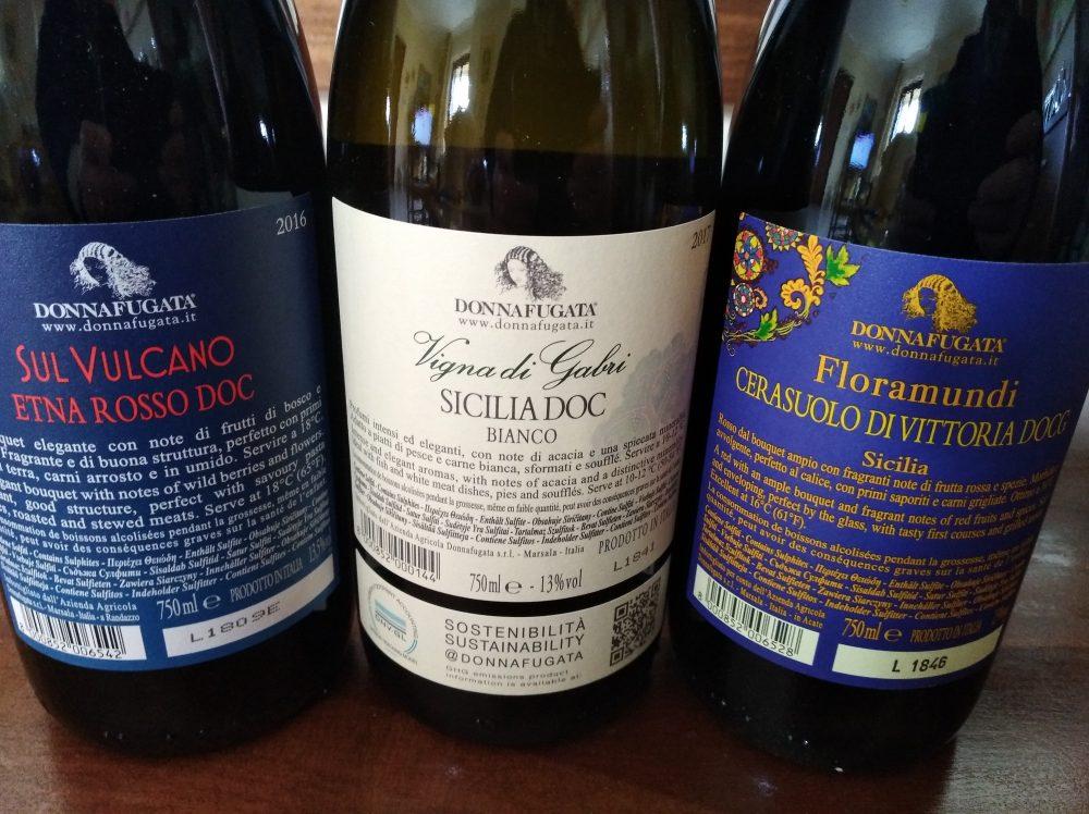 Controetichette Vini Donnafugata