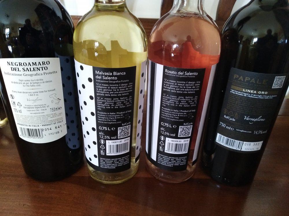 Controetichette Vini di Varvaglione