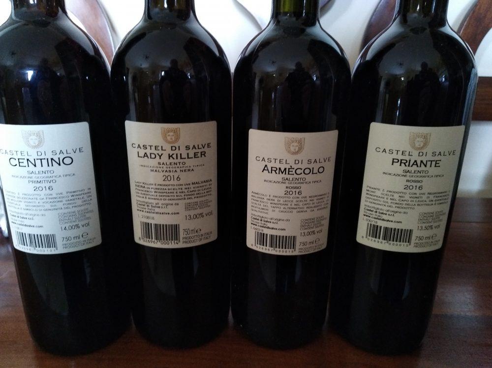 Controetichette vini di Castel di Salve