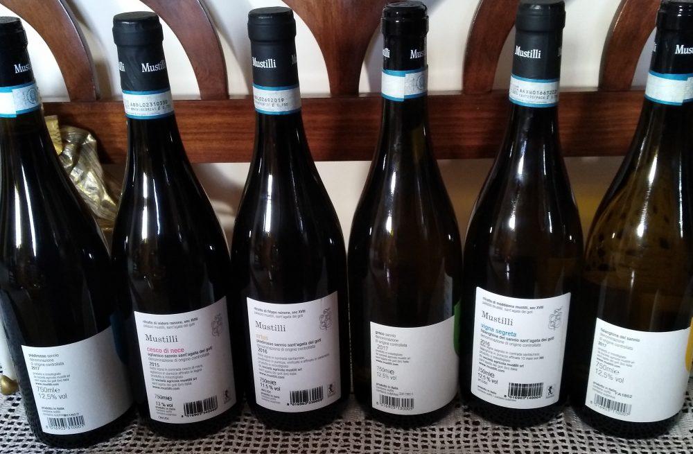 Controetichette vini di Mustilli