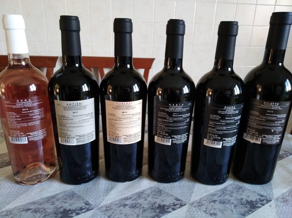 Controetichette vini di Schola Sarmenti