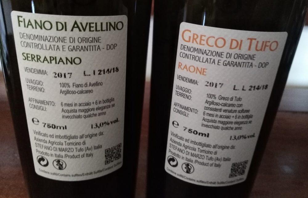 Controetichette vini di Torricino