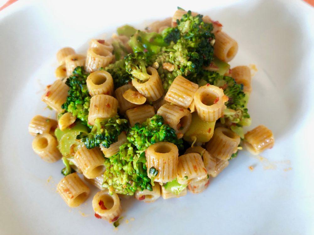 Ditalini integrali con aglio, broccoletti e 'nduja