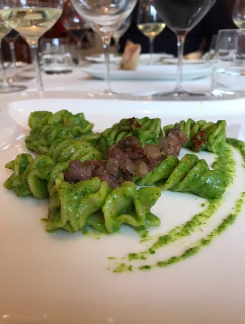 Eliche con broccolo Aprilatico della chef Valentina Martone - Ristorante Megaron