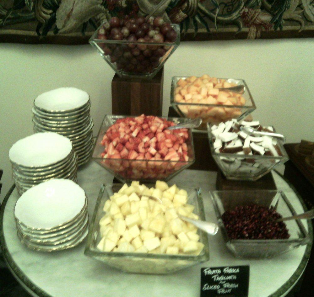 Four Seasons, il tavolo con la frutta fresca