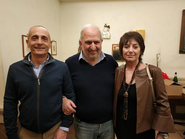 Giancarlo con la moglie Cecilia e il socio Sergio Natali
