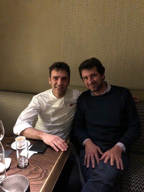 Lo chef Antonio D'Angelo di Nobu Milano e l'enologo Maxence Dulou di Ao Yun