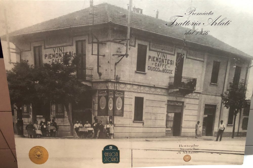 Premiata Trattoria Arlati, la storia