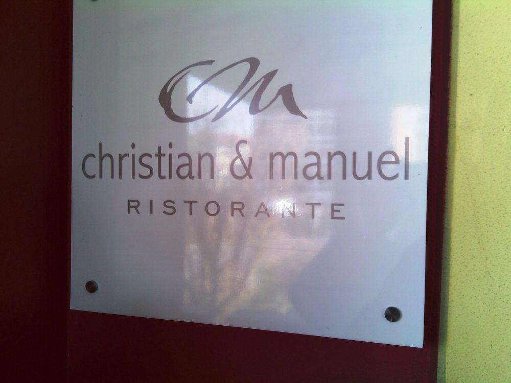 Ristorante Christian e Manuel, L'insegna