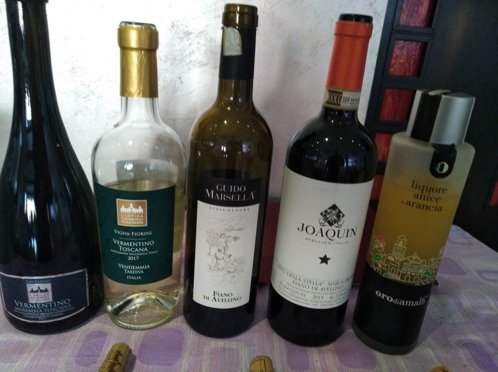 Ristorante Emozionando Vini degustati