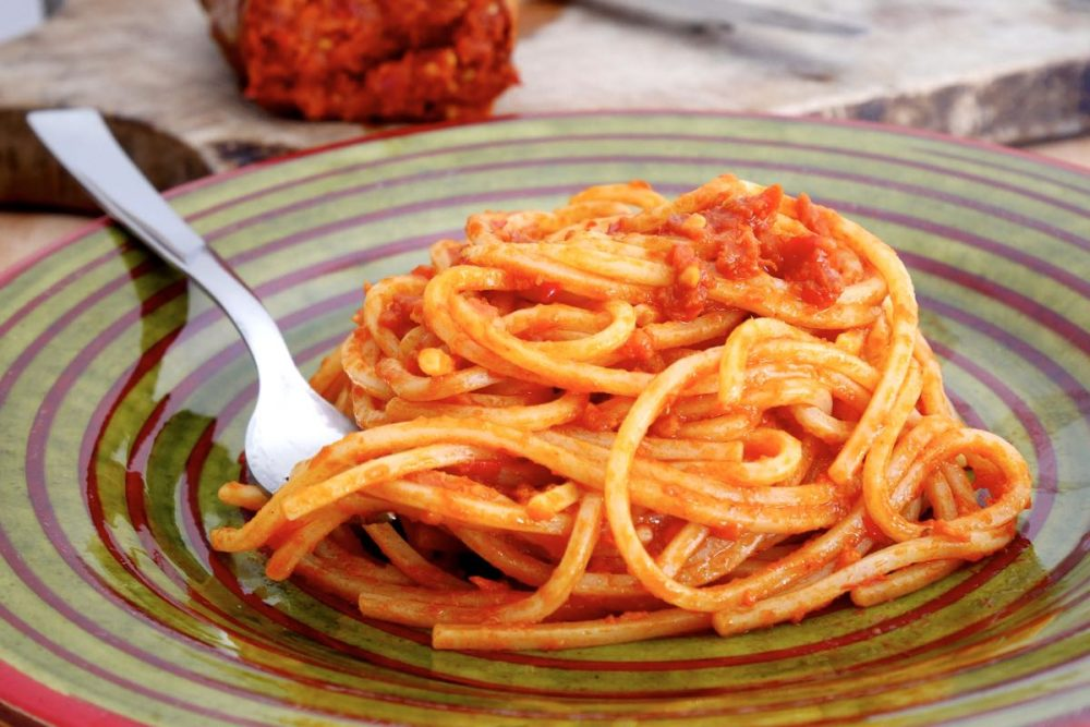 Spaghetti al pomodoro con la 'nduja, foto dal web
