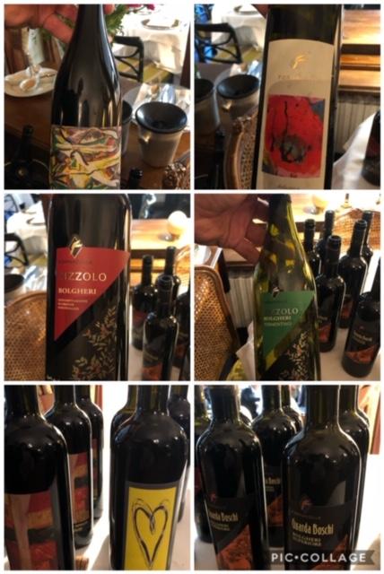 Piatti abbinati ai vini di Bolgheri preparati dal ristorante Al Ceppo di Roma