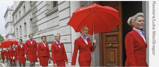 Le hostess di Virgin Atlantic