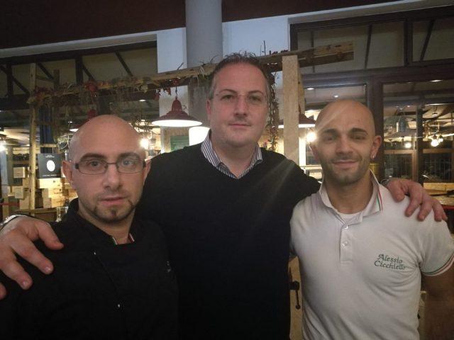 Davide Cicchiello (a destra) con Dario Cimmino e Vittorio Mucciacciaro