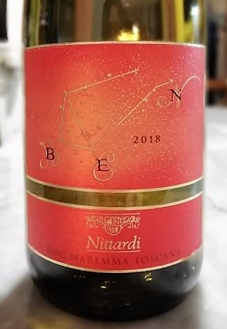Maremma Toscana Bianco Doc Vermentino BEN 2018