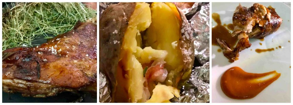 Casa del Nonno 13, Cosciotto di agnello - patata cotta sotto la cenere - Cosciotto d'agnello con salsa barbecue