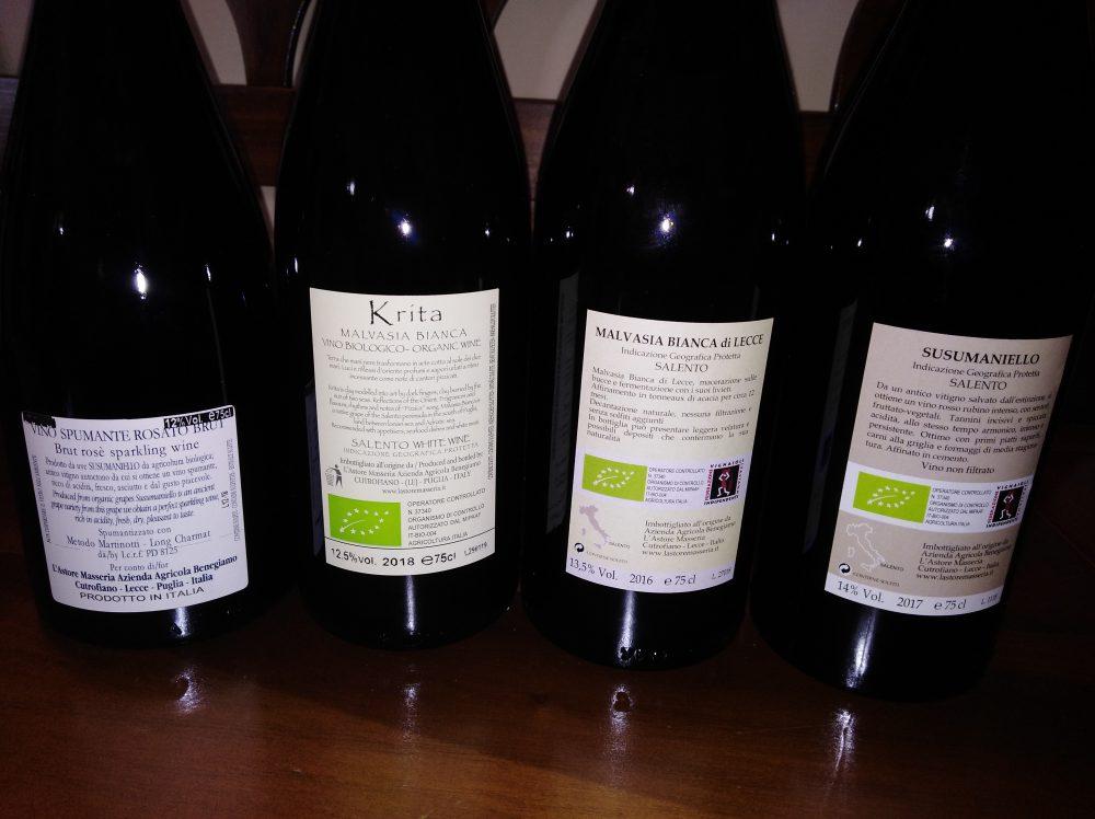 Controetichette vini L'Astore Masseria