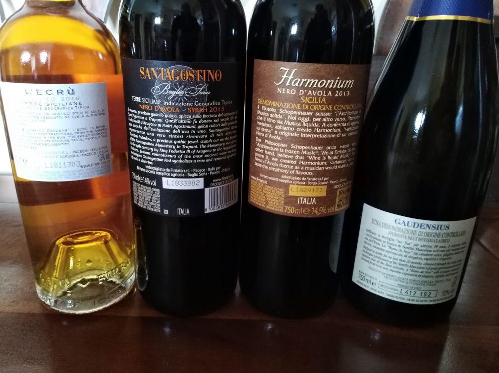 Controetichette vini di Firriato