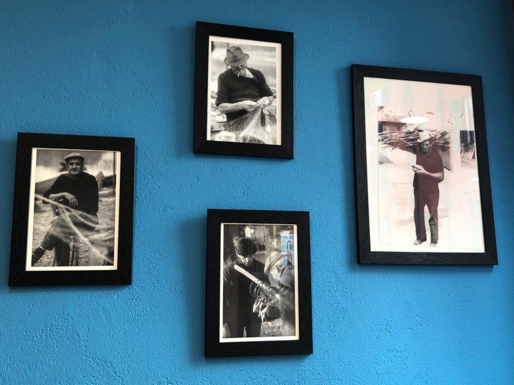 Da Ceko il pescatore, vecchie foto alle pareti