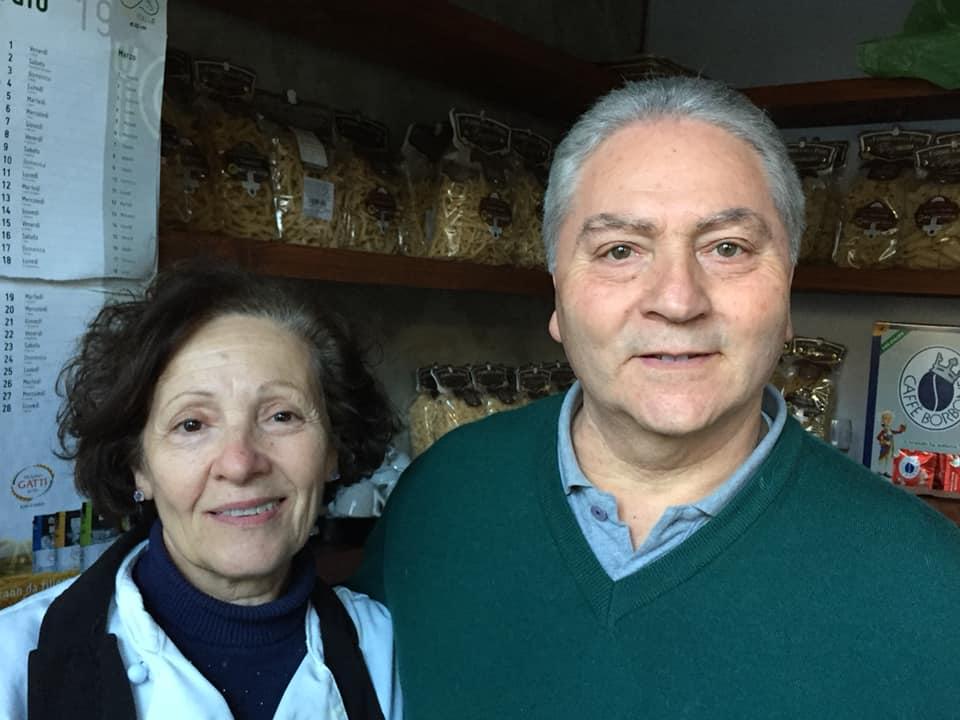 Ennio Granese con la moglie Maria