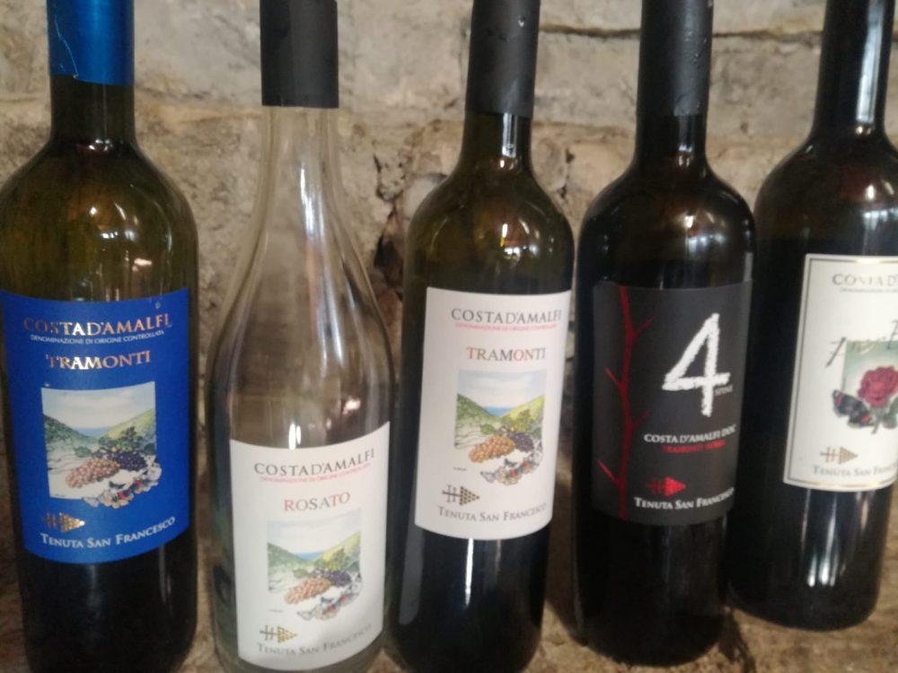 Festa a tenuta San Francesco - i vini