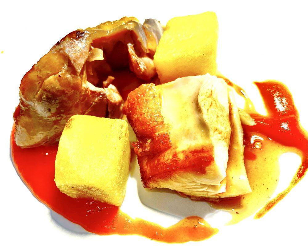 Veritas Restaurant, Pollo e Patate con Salsa di Papaccelle