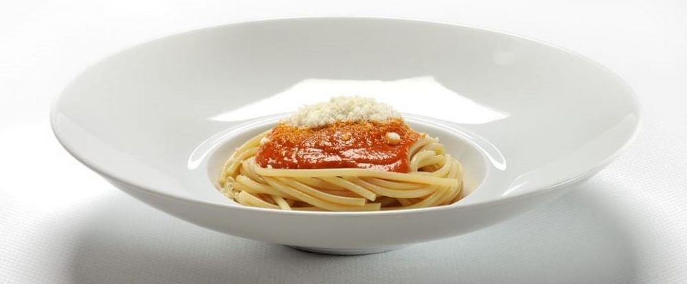 Spaghetto il valentino alla pommarola delle Alpi 1985 - Negrini e Pisani