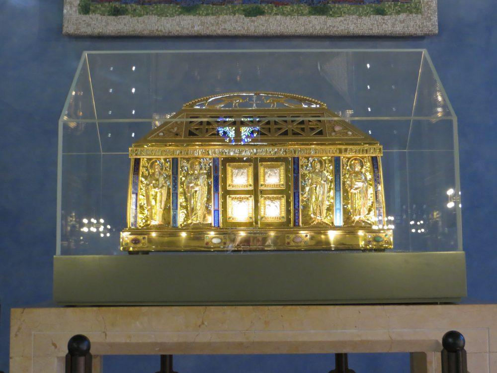 Teca con le reliquie di Hildegard von Bingen