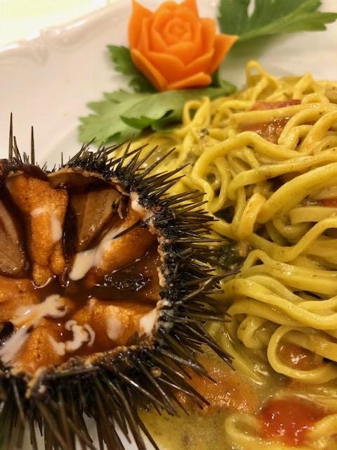 Rinaldi al Quirinale - Pasta con ricci e anemoni